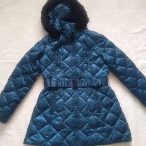Laundry by Shelly Segal faux fur hood puffer coat